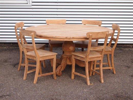 Round teak table Ø 160 cm - Picture 3
