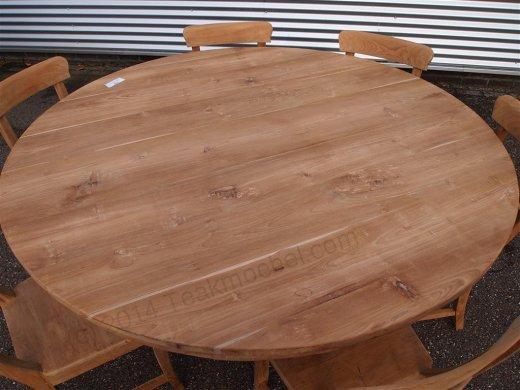 Round teak table Ø 160 cm - Picture 1