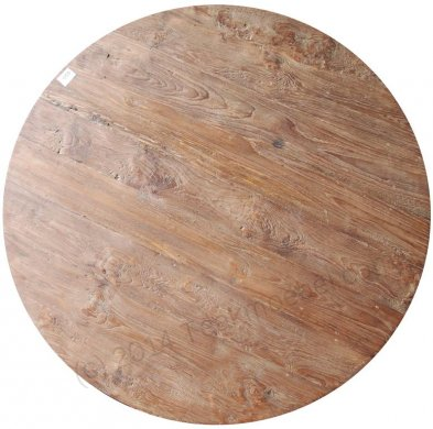 Round teak table Ø 100 cm reclaimed - Picture 3
