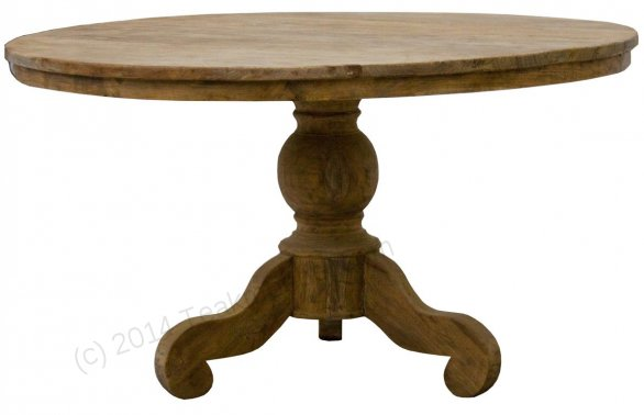 Round teak table Ø 100 cm reclaimed - Picture 0