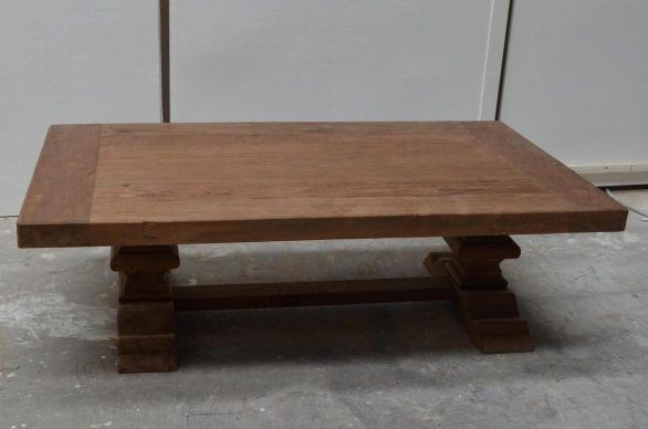 Teak monastery coffeetable 120cm - Picture 5