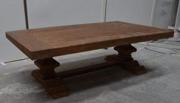 Teak monastery coffeetable 120cm - Picture 4