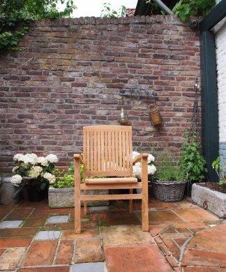 Teak garden chair stacking - Picture 9