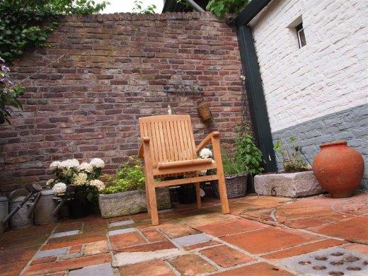 Teak garden chair stacking - Picture 8