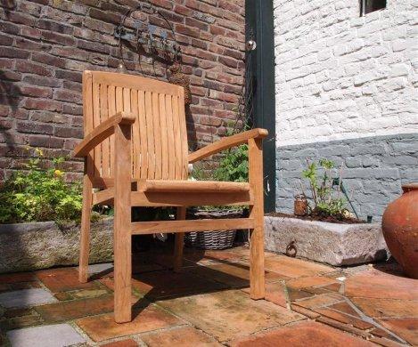 Teak garden chair stacking - Picture 0