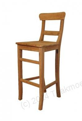 Teak bar stool Mariotto - Picture 0