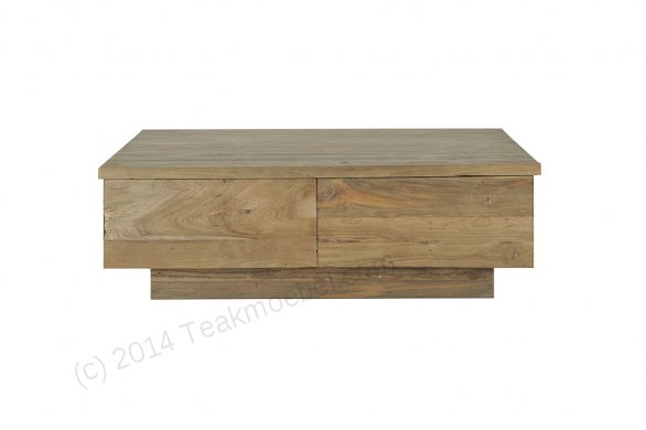 Teak coffeetable 110x70cm old brushed - Picture 2