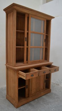 Teak display cabinet 120cm - Picture 2