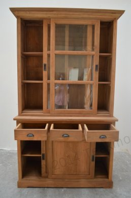 Teak display cabinet 120cm - Picture 1
