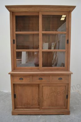 Teak display cabinet 120cm - Picture 0