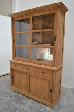 Teak display cabinet 140cm - Picture 5