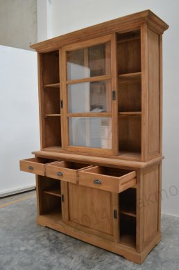 Teak display cabinet 140cm - Picture 4