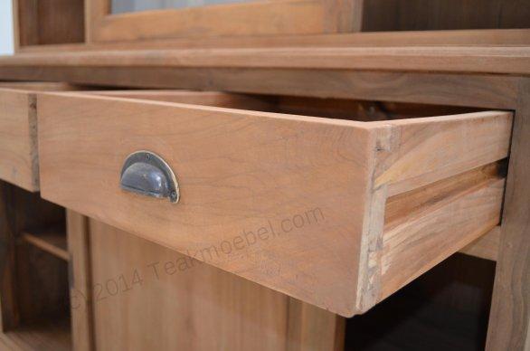 Teak display cabinet 140cm - Picture 3