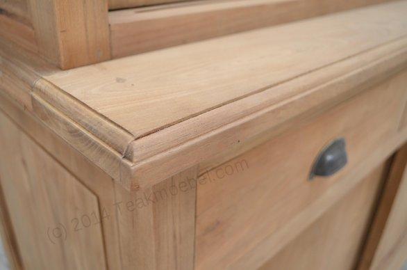 Teak display cabinet 140cm - Picture 2