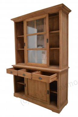 Teak display cabinet 140cm - Picture 1