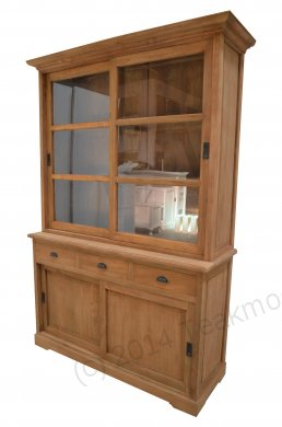 Teak display cabinet 140cm - Picture 0