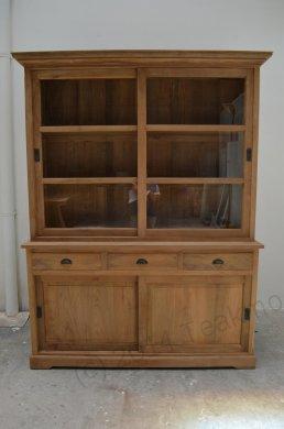 Teak display cabinet 160cm - Picture 2