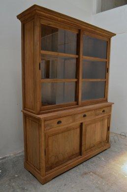 Teak display cabinet 160cm - Picture 4