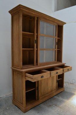 Teak display cabinet 160cm - Picture 1