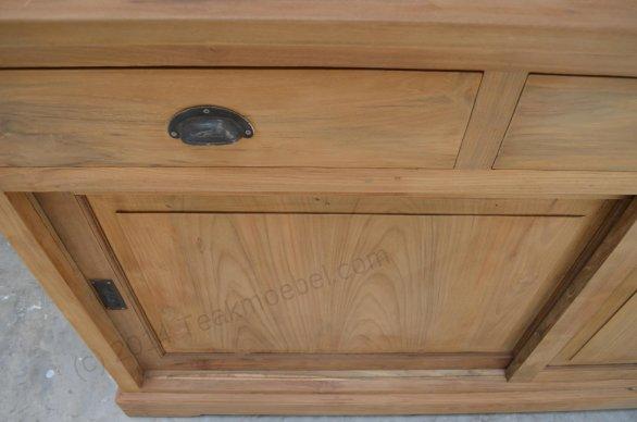 Teak display cabinet 160cm - Picture 6