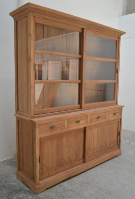 Teak display cabinet 180cm - Picture 0