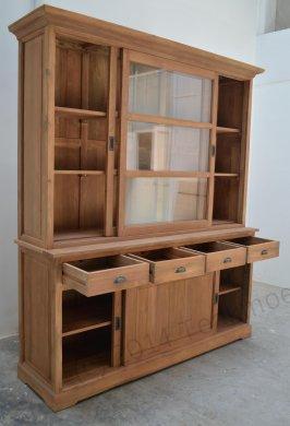 Teak display cabinet 180cm - Picture 1