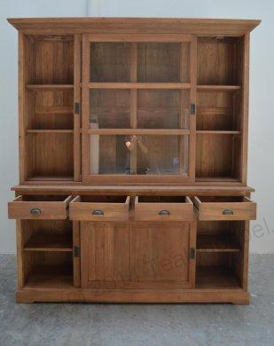 Teak display cabinet 180cm - Picture 3