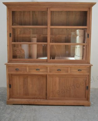 Teak display cabinet 180cm - Picture 2