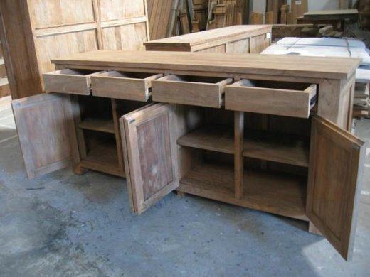Teak sideboard 200 x 90 x 50 - Picture 1