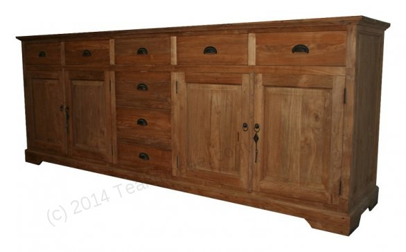 Teak sideboard 250 x 90 x 50 - Picture 0