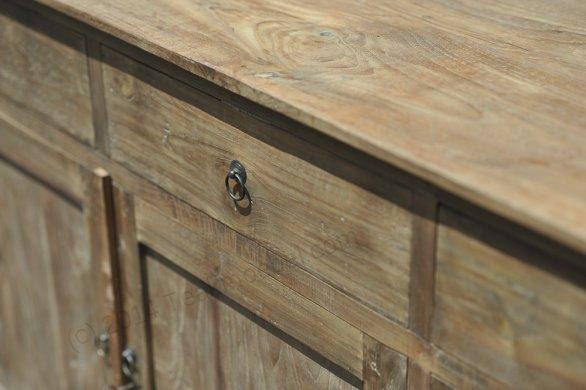 Teak sideboard 200cm reclaimed - Picture 4