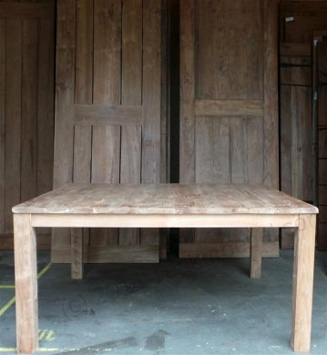 Square teak table 160x160 - Picture 5