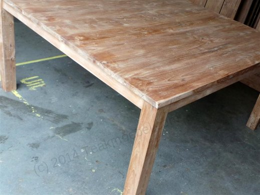 Square teak table 160x160 - Picture 6