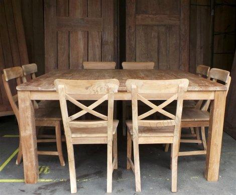 Square teak table 160x160 - Picture 4