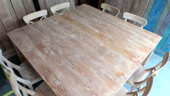 Square teak table 160x160 - Picture 3