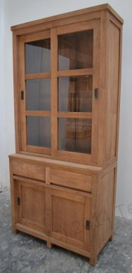 Teak display cabinet 100cm modern - Picture 0