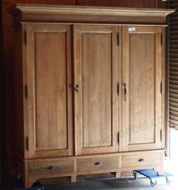 Teak wardrobe 200cm - Picture 1