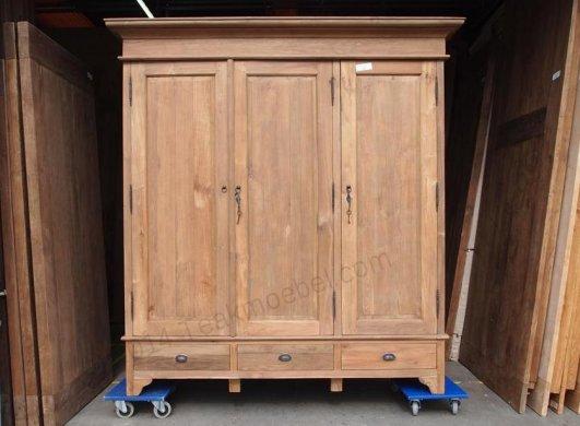 Teak wardrobe 200cm - Picture 0