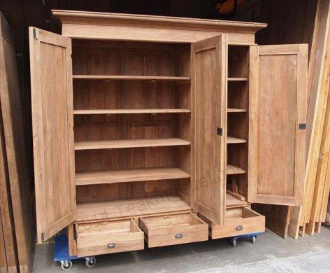Teak wardrobe 200cm - Picture 8