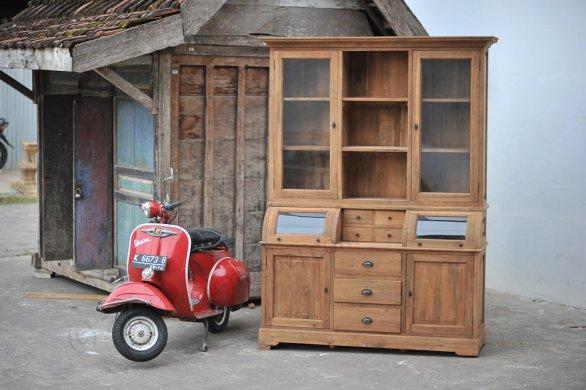 Teak cabinet 160cm - Picture 0
