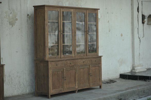 Teak cabinet 200cm reclaimed - Picture 2