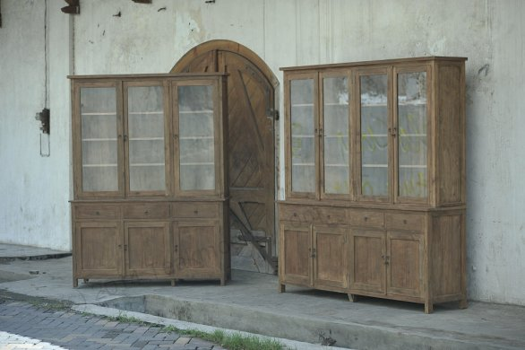 Teak cabinet 160cm reclaimed - Picture 1