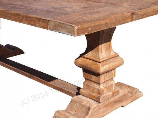 Teak refectory table 220x100cm - Picture 2