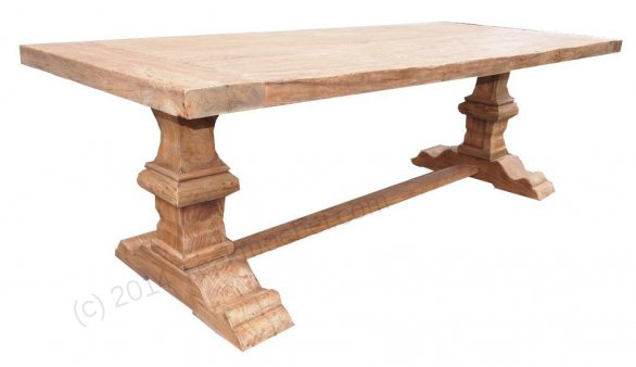 Teak refectory table 240x100cm - Picture 2
