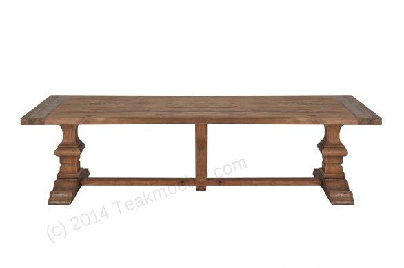 Teak refectory table 300x100cm - Picture 1