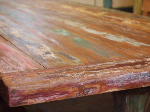 Teak monastery table 'Paint' - Picture 1
