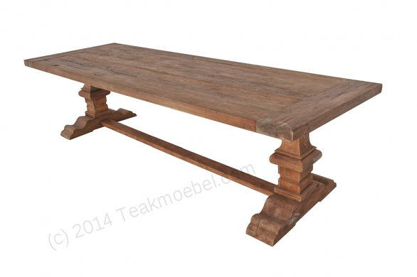 Teak refectory table 220x100cm - Picture 0