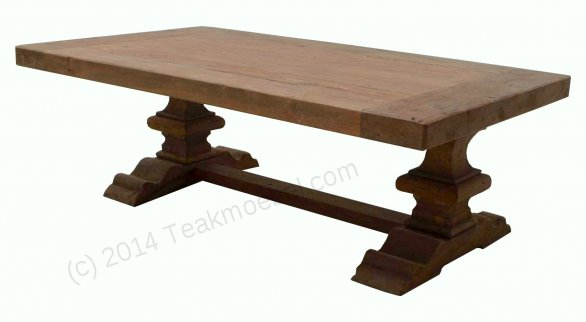 Teak monastery coffeetable 120cm - Picture 1