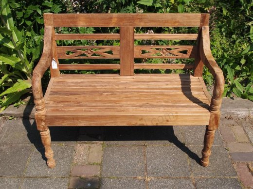 Teak station gardenbench 2-seater - Picture 3