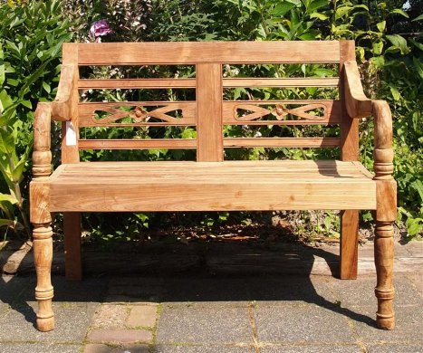 Teak station gardenbench 2-seater - Picture 2